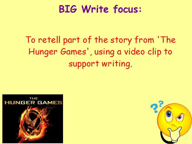 Year 6 Independent Fiction Writing Stimulus Pack - Hunger Games