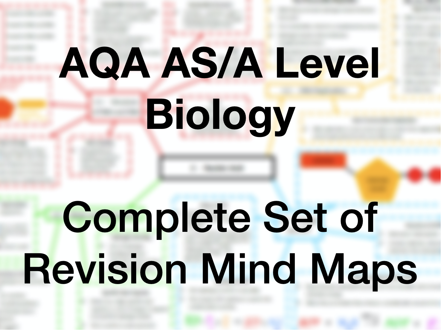 Complete Biology Revision Mind Map Set - AQA AS/A Level Biology (7041/7042)