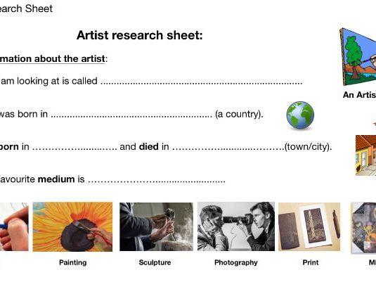 GCSE Art. Artist Research Sheet
