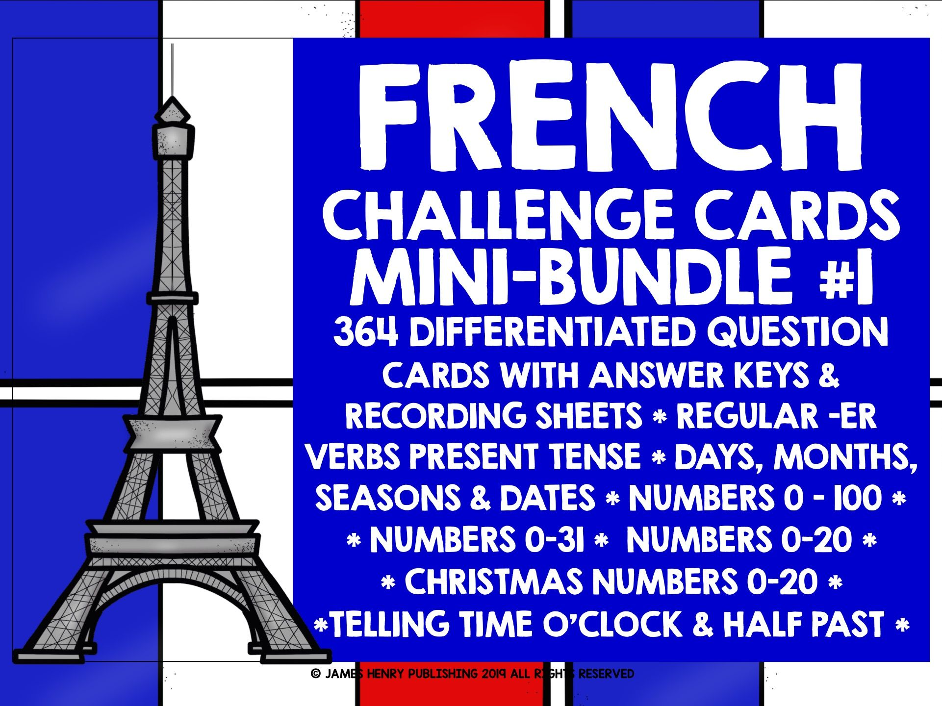 FRENCH CHALLENGE CARDS BUNDLE #1