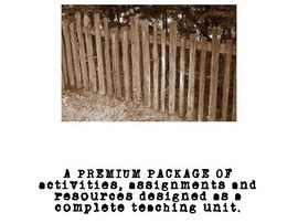 """Fences"" (by August Wilson) Complete Premium Package"