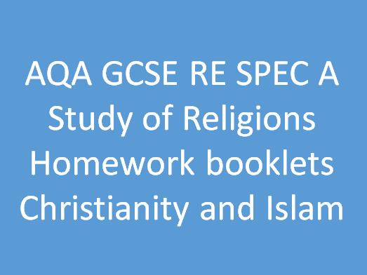 AQA GCSE RE SPEC A Study of religion homework booklets