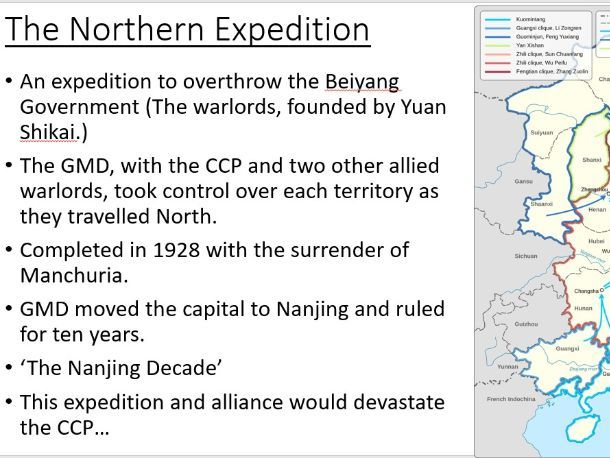 A Level Chinese History: The National Revolution Army and the CCP Purge