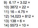 SATs Arithmetic Practice