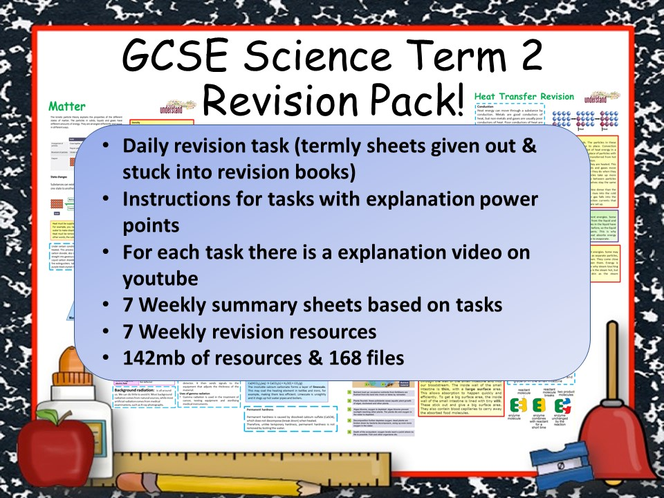 GCSE Science Term 2 Revision Pack