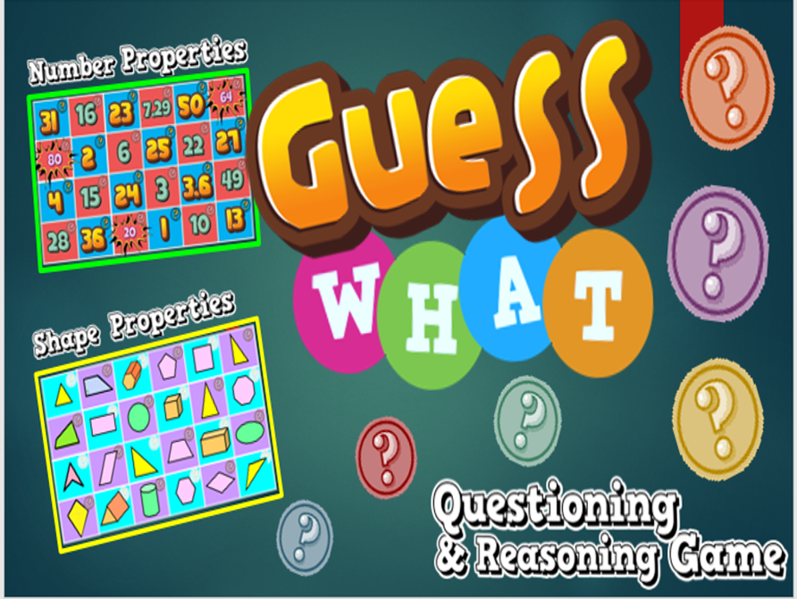 Shape and Number Properties - Reasoning and Questioning Game - Guess What!