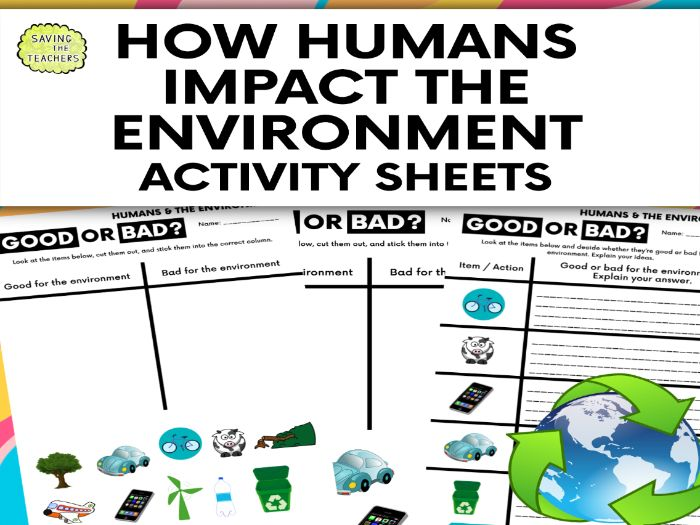 Humans And The Environment: How Humans Affect The Environment Worksheets