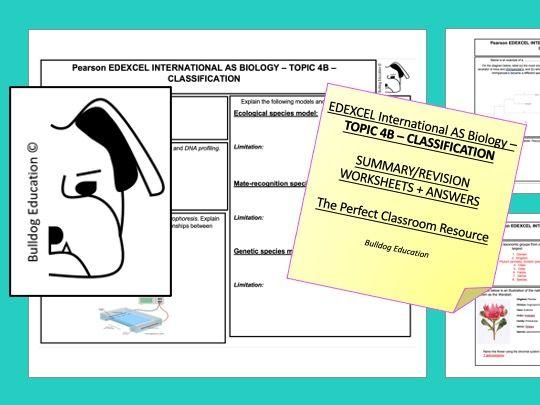 EDEXCEL International AS Biology - Topic 4B - Classification