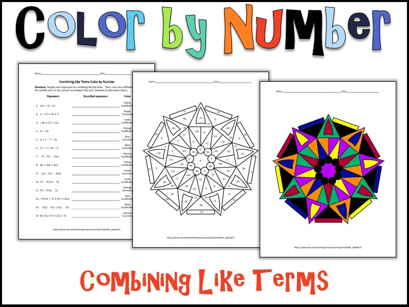 Combining like terms worksheet 6th grade pdf