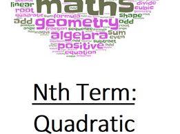 Nth Term: Quadratic Practice Questions Booklet