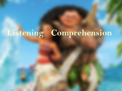 Moana Song  ' How Far I'll Go' Listening Comprehension worksheets with Key & Analysis
