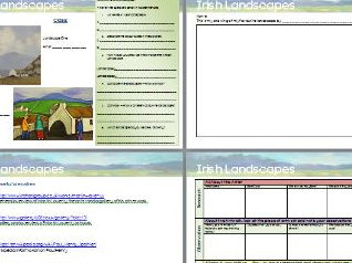 Famous Landscape Artists Internet Research frame, Compare & Contrast, Drawing frame.