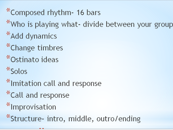 Percussion and rhythm scheme of work using large blue water bins (or other percussion)