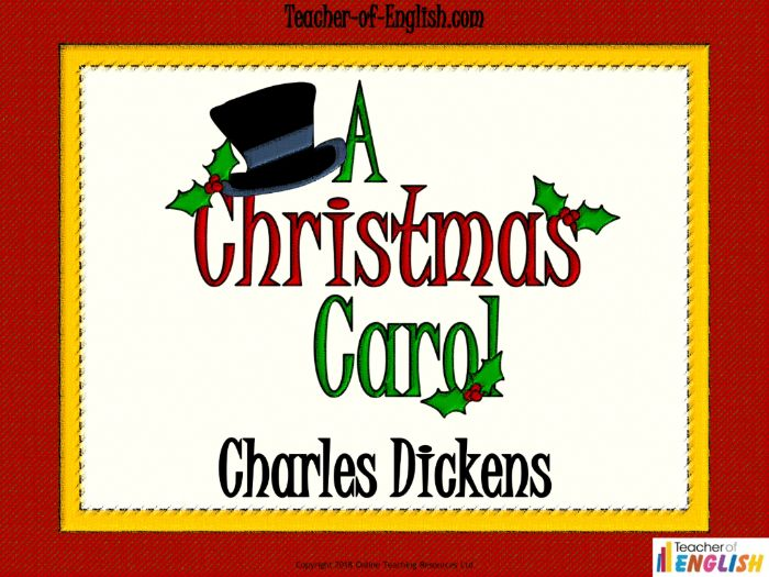 A Christmas Carol by Charles Dickens (83 slide PowerPoint, 14 worksheets and 8 lesson plans)