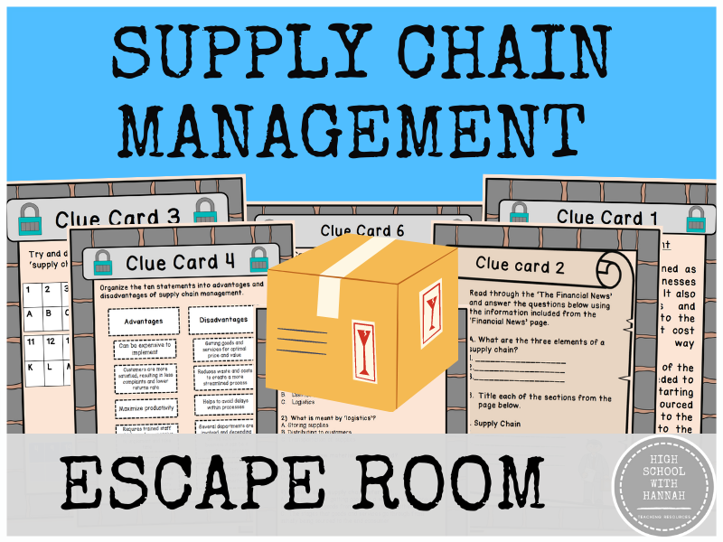 Supply Chain Management - Escape Room