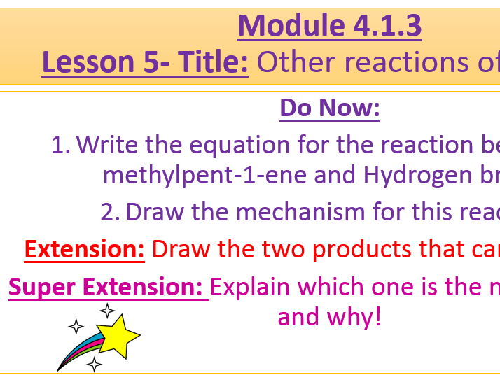 A Level Chemistry OCR A Module 4.1.3