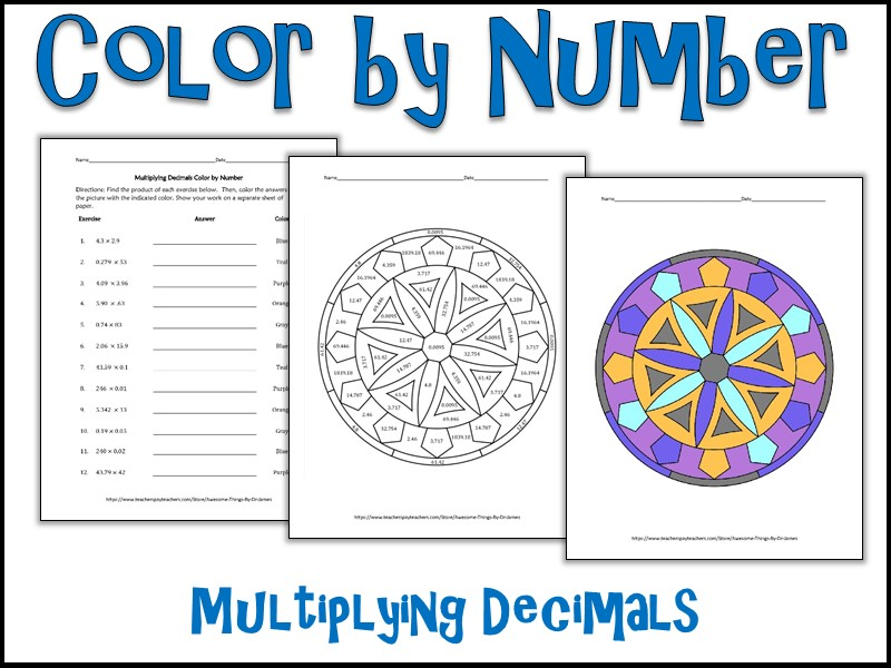 multiplying decimals color by number by charlotte james615 teaching resources. Black Bedroom Furniture Sets. Home Design Ideas