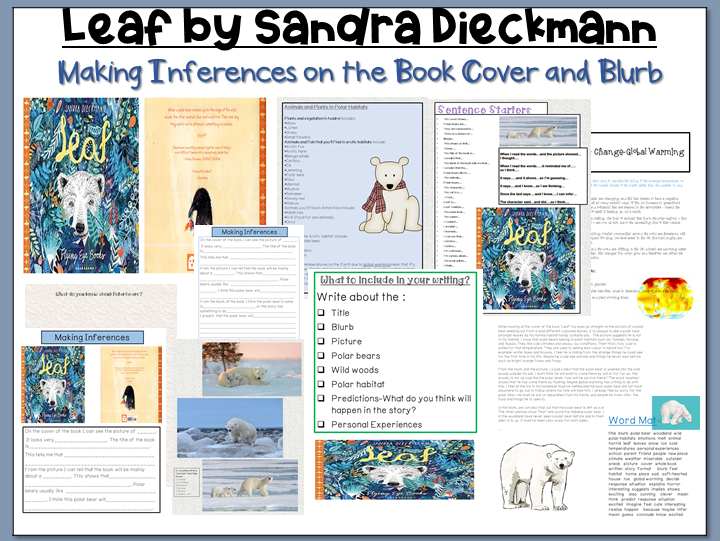 Leaf by Sandra Dieckmann: Making Inferences on the Book Cover and Blurb
