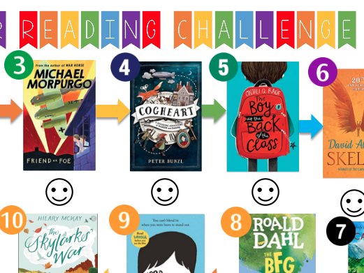 10/11 Year Old Summer Reading Challenge