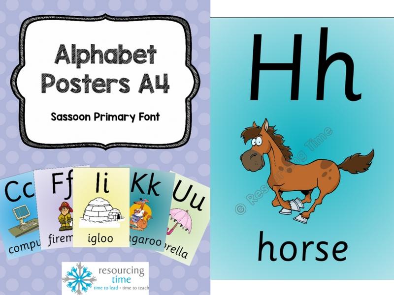 A4 Alphabet Posters