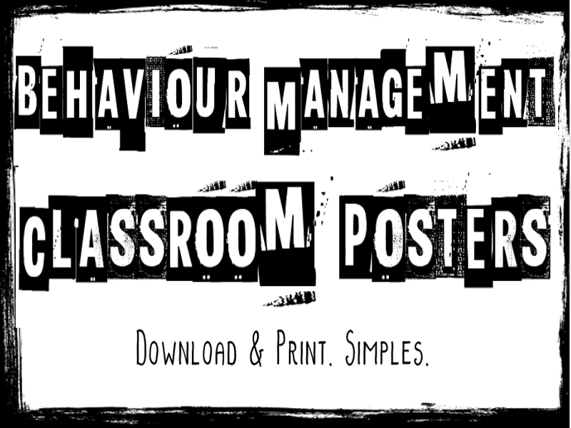 Behaviour Management Posters