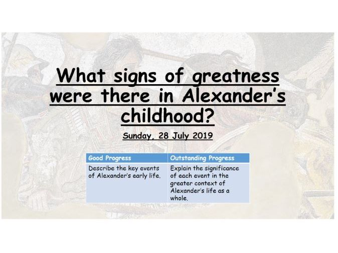Alexander the Great's early life - What sign's of greatness were there?