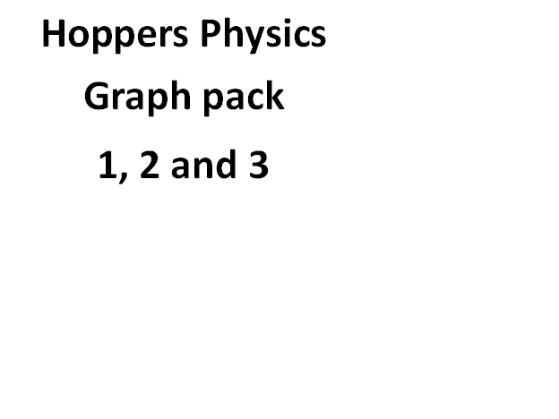 Hoppers Physics Graph pack bundle