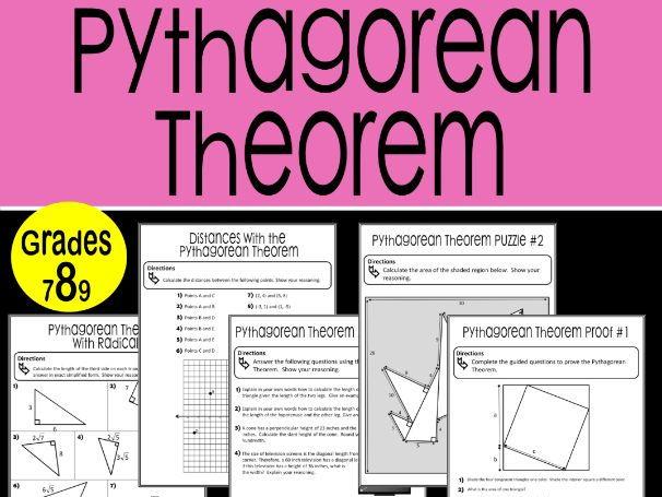 Pythagorean Theorem Math Stations