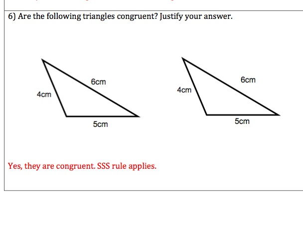 GCSE Maths - Congruency Questions and Answers
