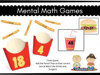 Mental Math Task Card Games!