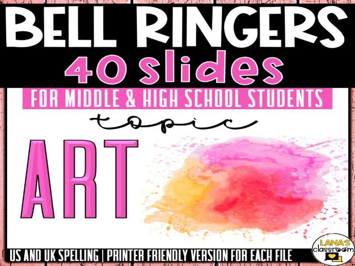 Bell Ringers Questions | Topic: Art and Creativity | Middle and High School