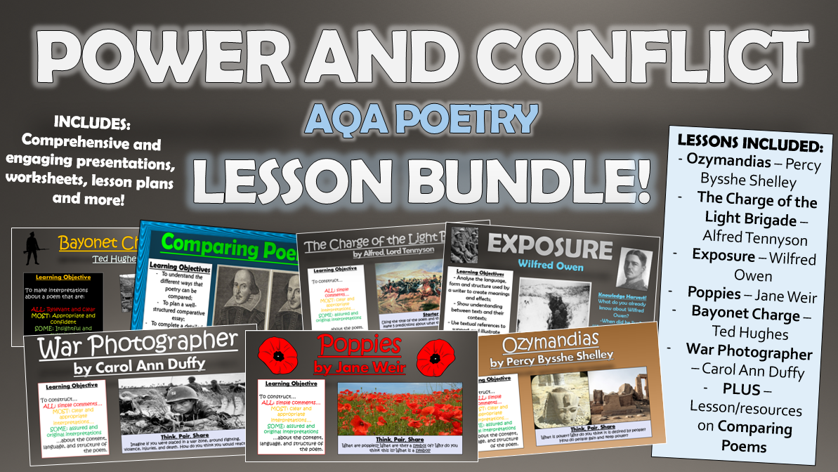 AQA Power and Conflict Poetry Lesson Bundle!