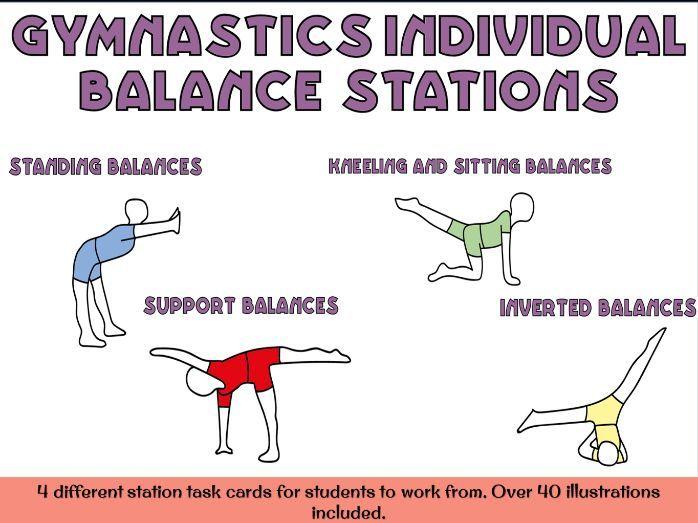 Gymnastics balances - individual balances circuit stations