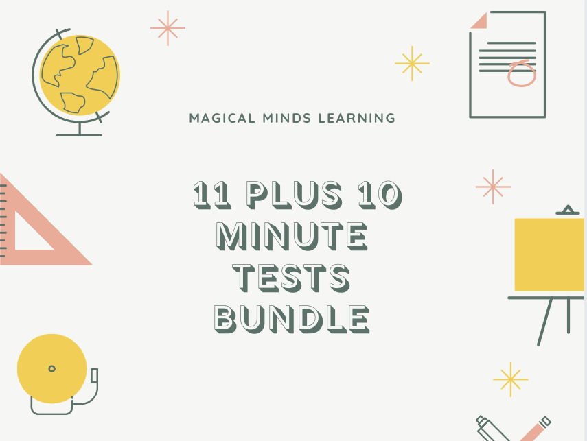 11 Plus 10 Minute Tests Bundle