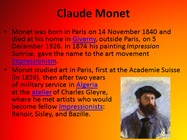 Claude Monet, Impressionism and Watercolours