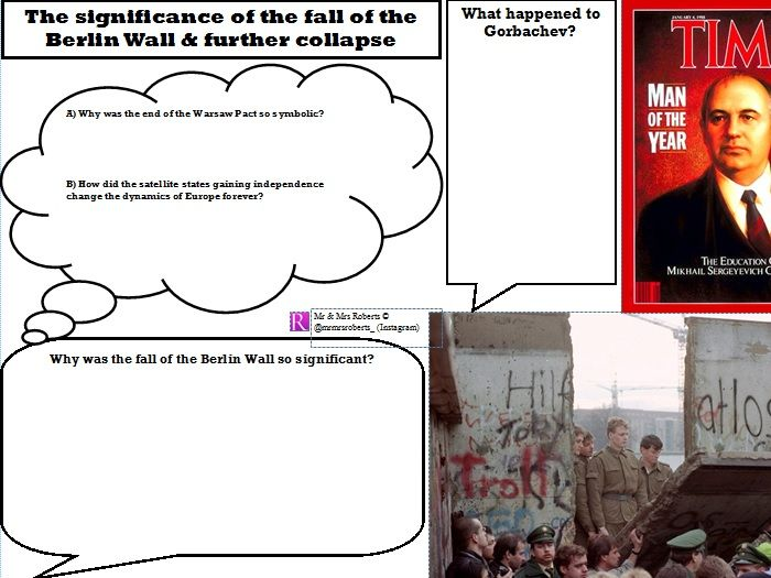 Edexcel GCSE History - Cold War - Topic 3 - The fall of the Berlin Wall & further collapse