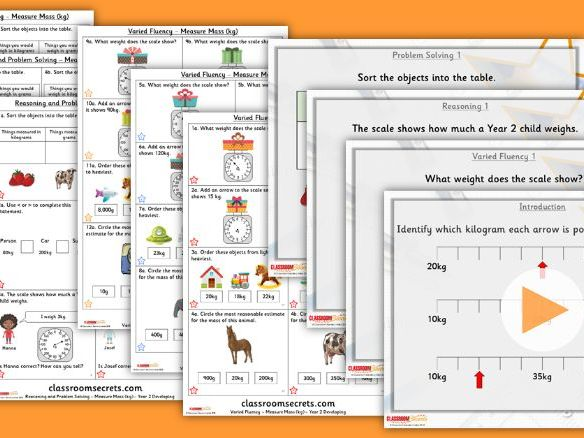 Year 2 Measure Mass (kg) Summer Block 4 Step 3 Lesson Pack