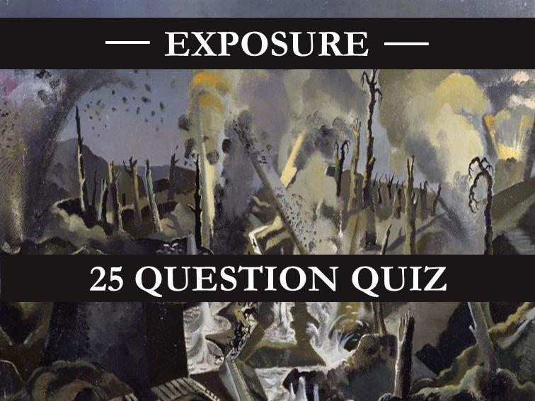 Exposure Quiz