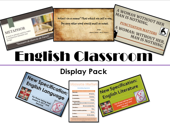 English Classroom Display Pack