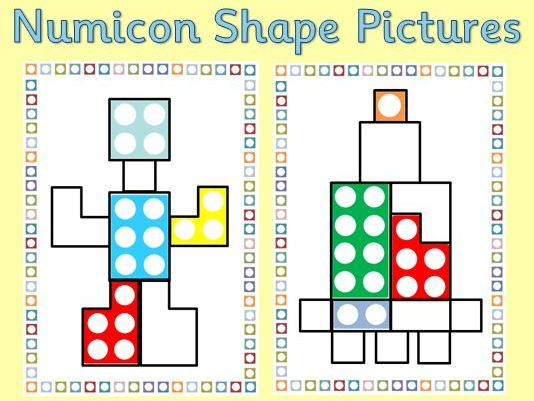 Numicon Shape Matching Pictures