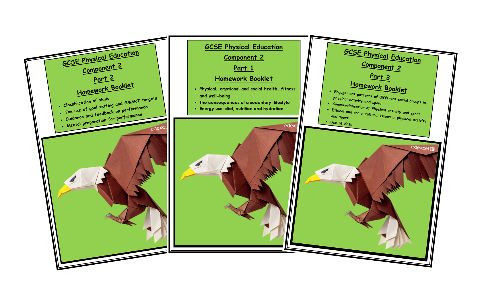Edexcel GCSE PE - Homework Booklets for Component 2