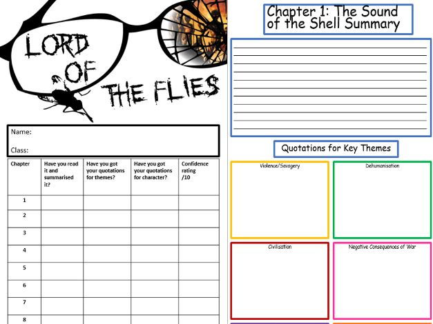 Lord of the Flies Quotation Revision Booklet