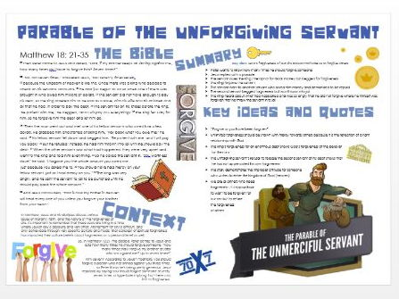 Parables of Jesus: The Unforgiving Servant - Story, Themes, Importance and Context