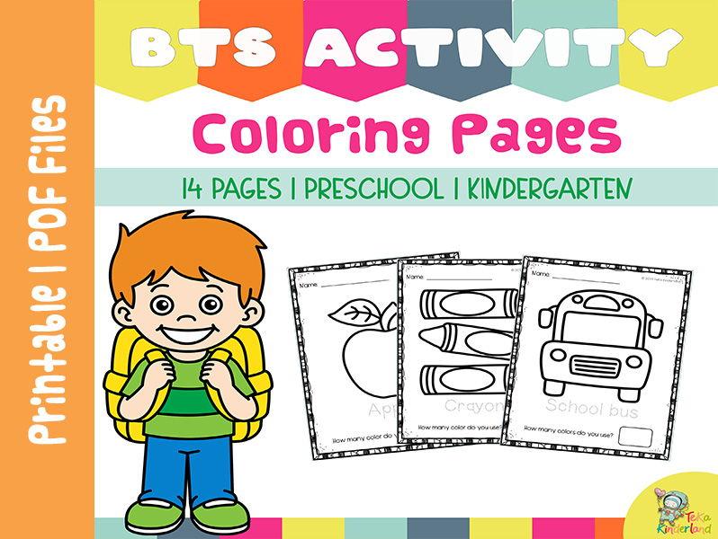 Back to School Coloring Pages Printable NO-PREP | TeKa Kinderland