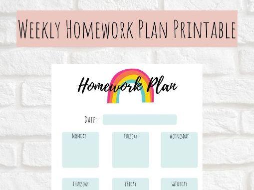 Weekly Homework Planner