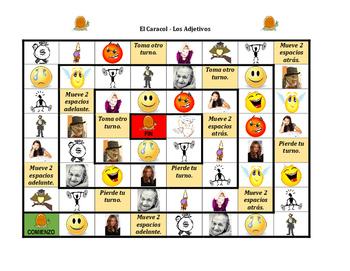 Adjetivos (Spanish Adjectives) Caracol Snail game