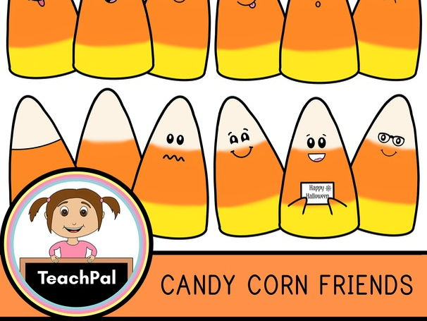 Candy Corn Friends - Halloween Clip Art