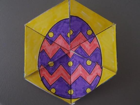 Easter Hexaflexagon