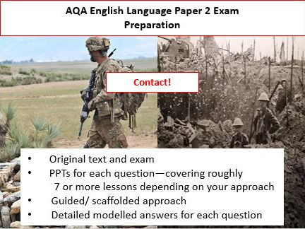 AQA GCSE English Language Paper 2 Exam and Preparation.  Contact!