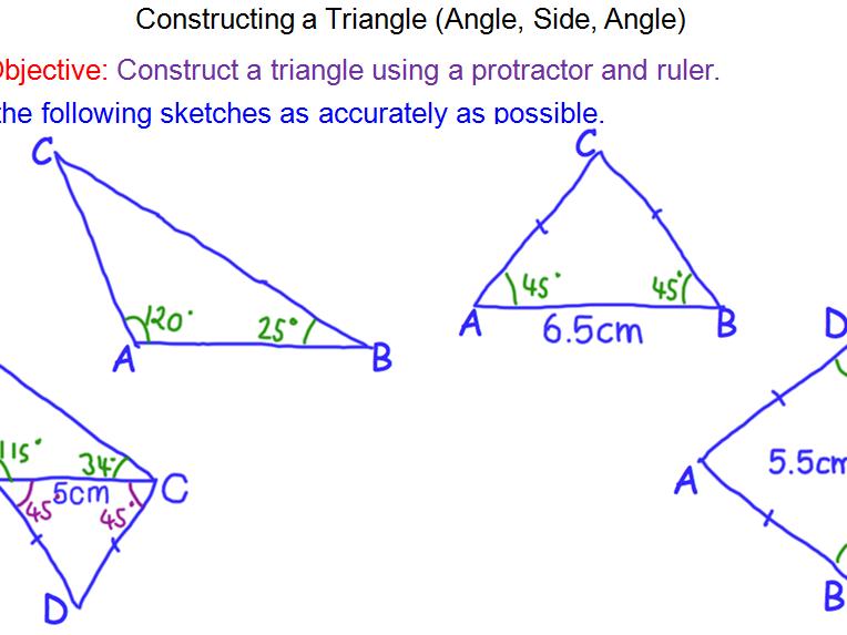 Constructions – Angle, Side, Angle